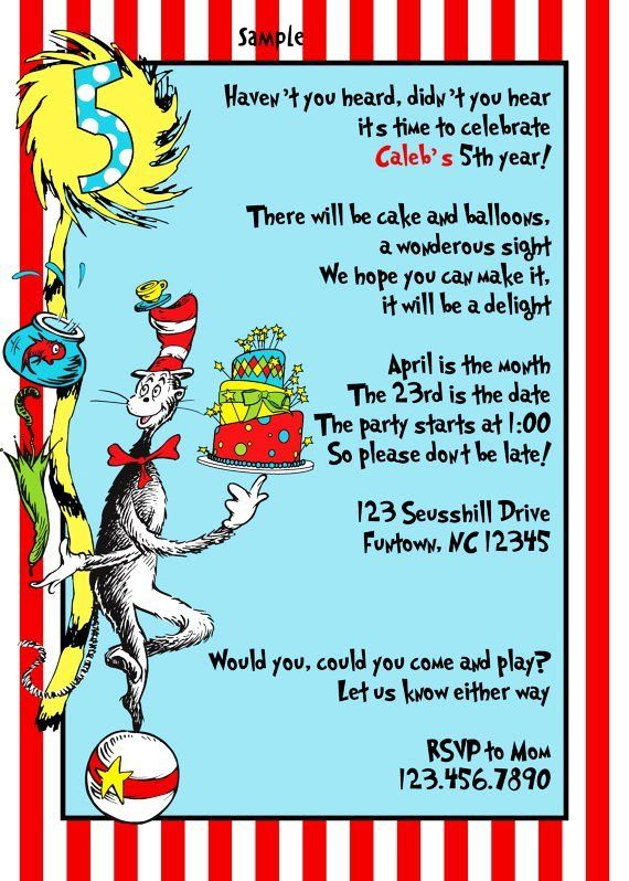 dr seuss invites Dr Seuss Birthday party invitations baby shower