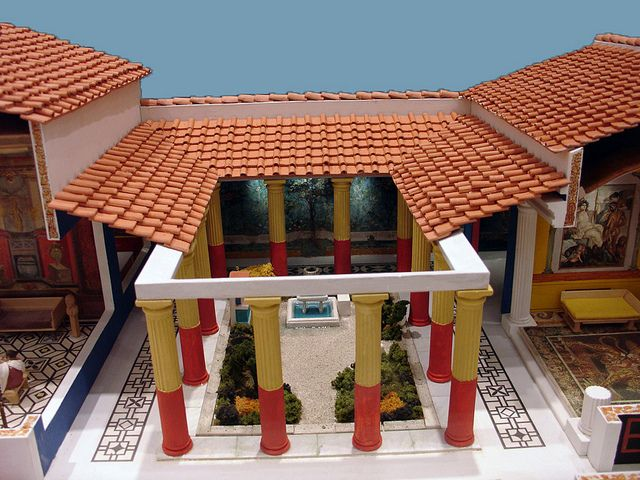 Reconstruction of a Roman Peristyle Garden | Flickr - Photo Sharing!