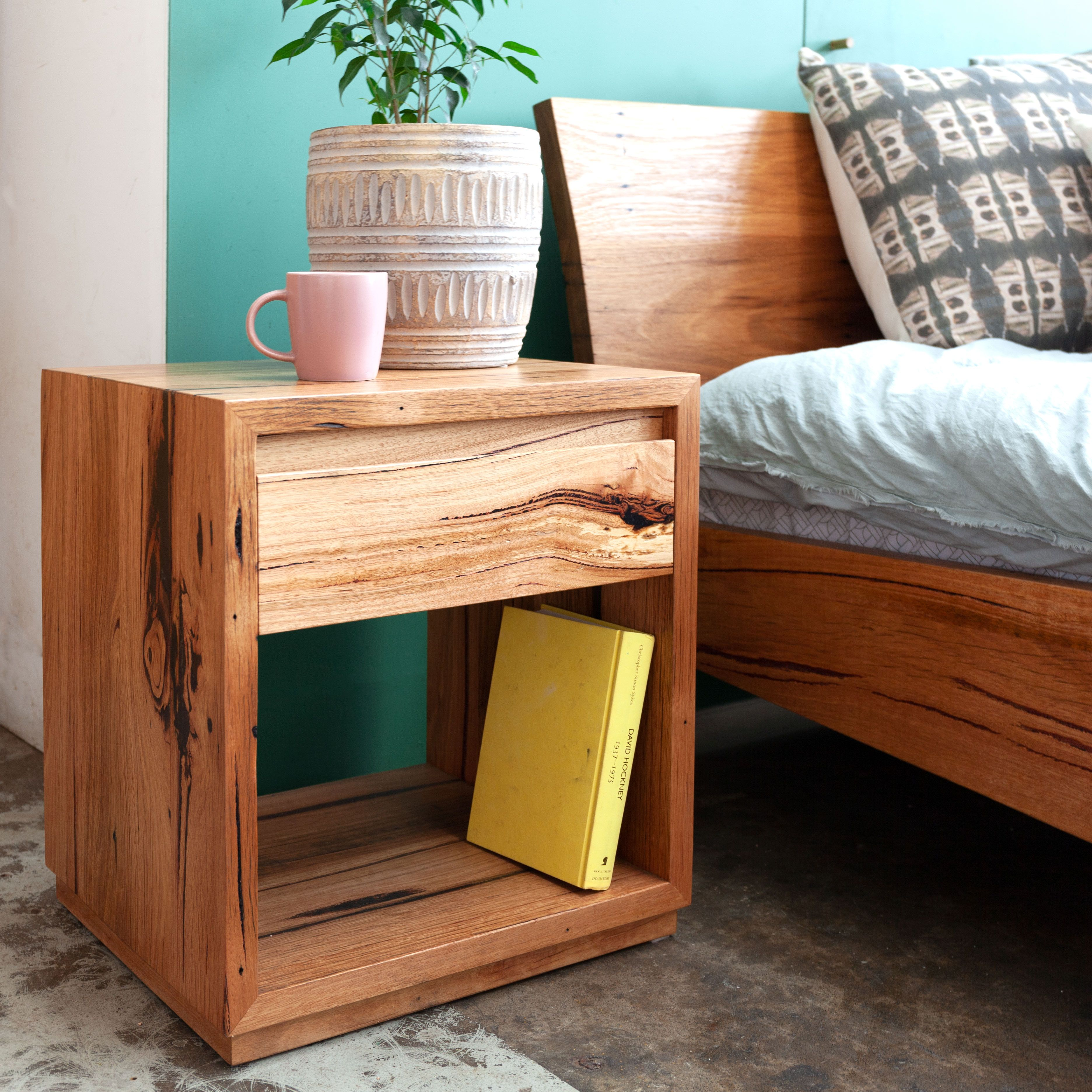 Classic Side Table Recycled Timber Furniture Bedside Table