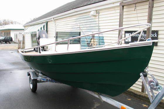 New 2012 Blue Fin Boats Dory 15 Skiff Boat Green Hull Boat