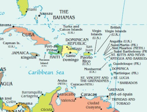 Map of The Carribean Islands | Maps