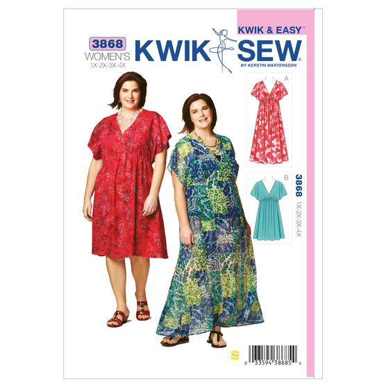 Mccall Pattern K3868 1X - 2X - -Kwik Sew Pattern | Sewing Patterns ...