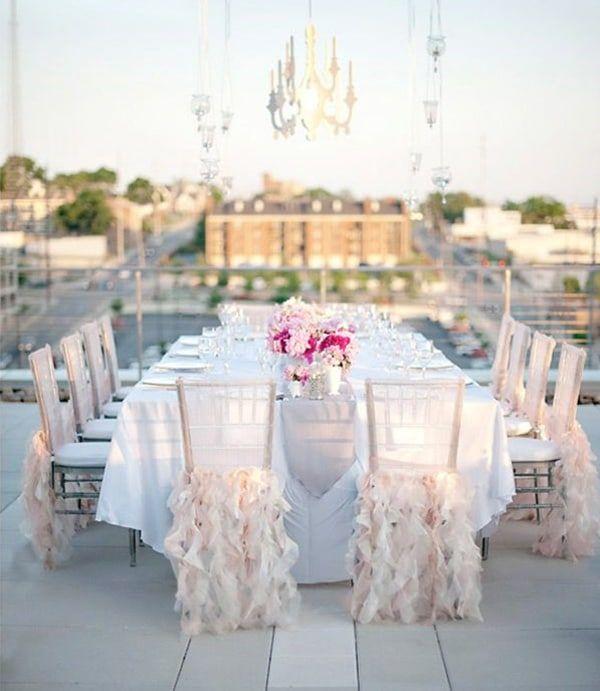 50 id es pour donner du style vos chaises chaise d coration mariage d coration mariage et tulle. Black Bedroom Furniture Sets. Home Design Ideas