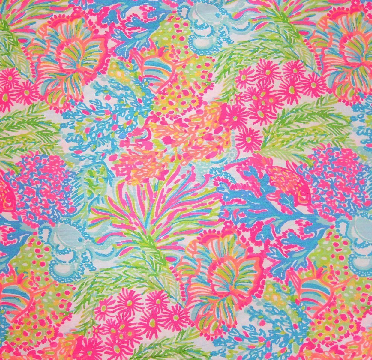 4d556f3e6f3321 Lilly Pulitzer Fabric Lovers Coral by PreppyFabrics on Etsy https://www.etsy
