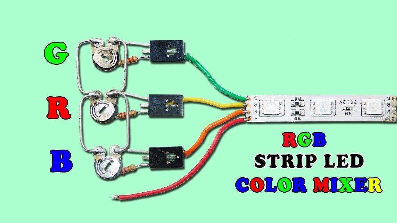 Powerful RGB LED Strip Color Mixer Circuit YouTube Lamba