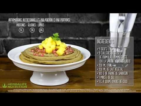 Recette de Crêpes Herbalife Nutrition - YouTube in 2020   Nutrition, Herbalife nutrition, Herbalife