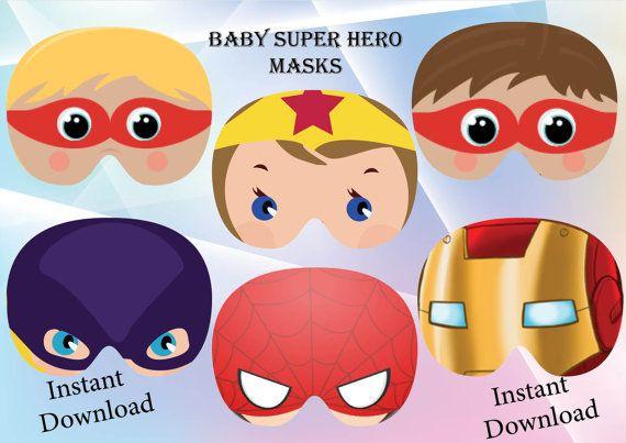 Instant Download Baby super hero masks Baby super hero by GoAlis