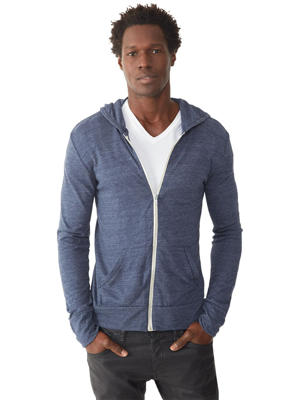 f532a56a63 Basic Eco-Jersey Zip Hoodie