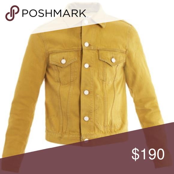 Men S Acne Studios Mustard Yellow Denim Jacket My Posh Picks