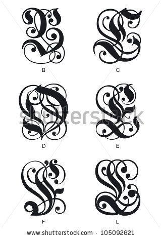 stock-vector-calligraphic-gothic-initials-letters-b-c-d-e-f-l-105092621.jpg 319×470 pixels