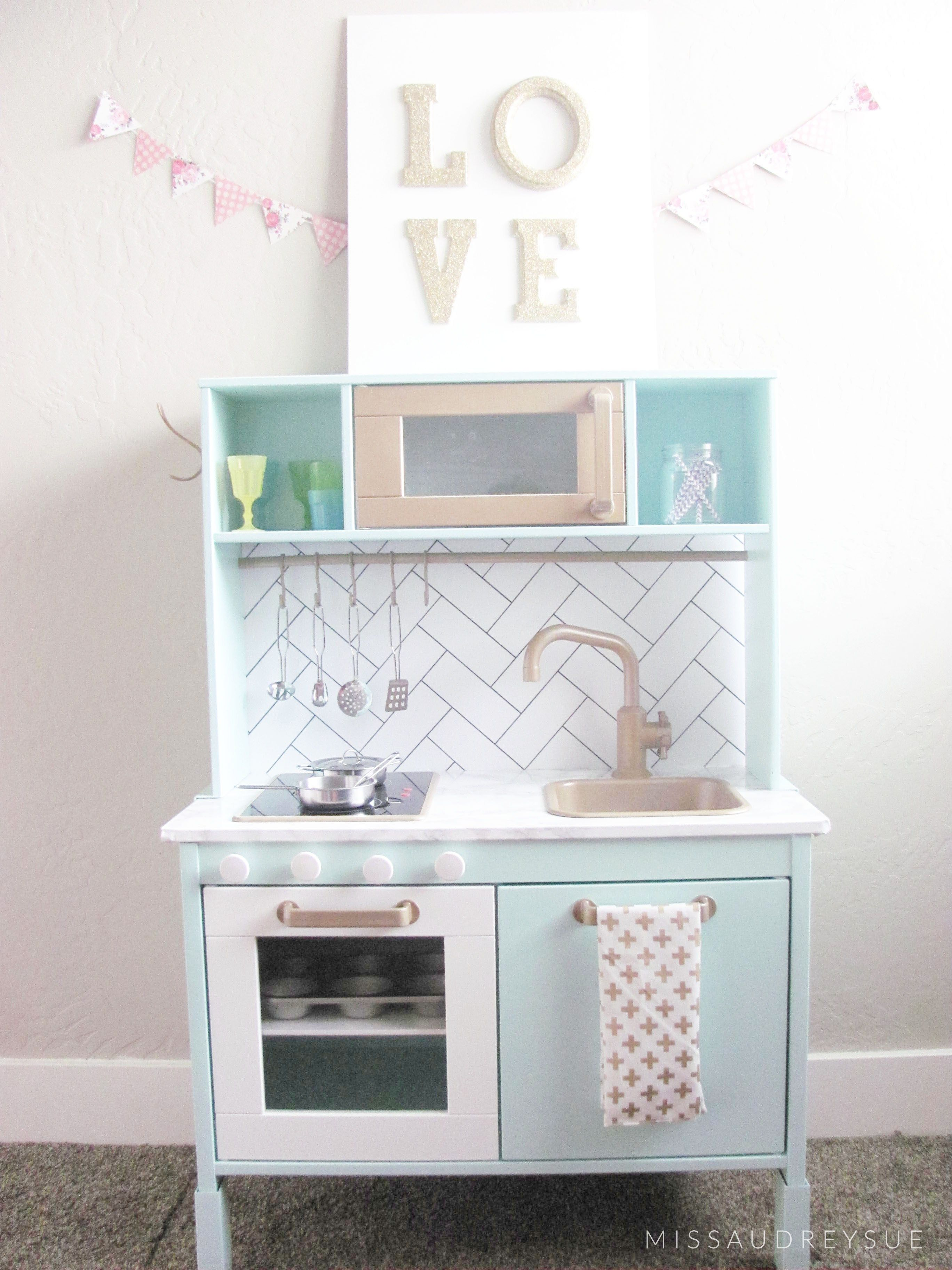 Ikea Miniküche Kinder Ikea Play Kitchen Makeover Miss Audrey Sue Diy Ikea Küche