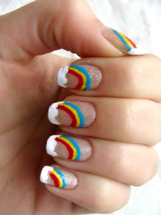 10 Most Impressive Rainbow Nail Designs For This New Year 2019