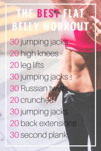 Looking for an easy stomach workout for beginners? You've got to try this Best Flat Stomach Workout...