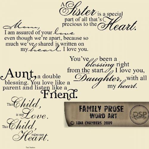 Variety Sister Mother Aunt Daughter Child Family Quotes