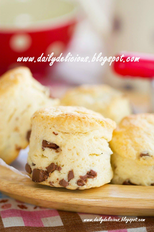 Milk chocolate scones