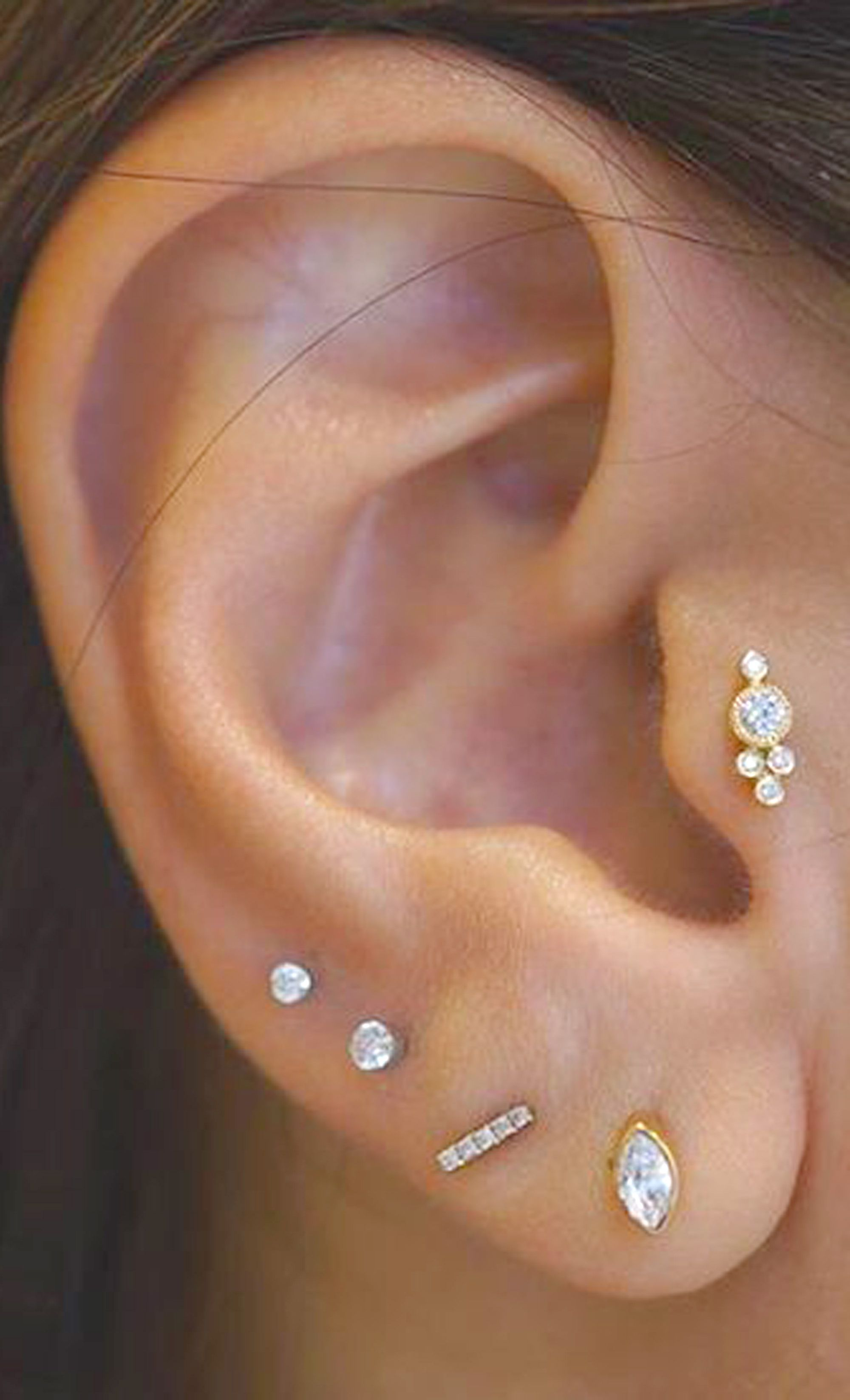 Cute Ear Piercing Ideas For Women Tragus Earring Stud Jewolite