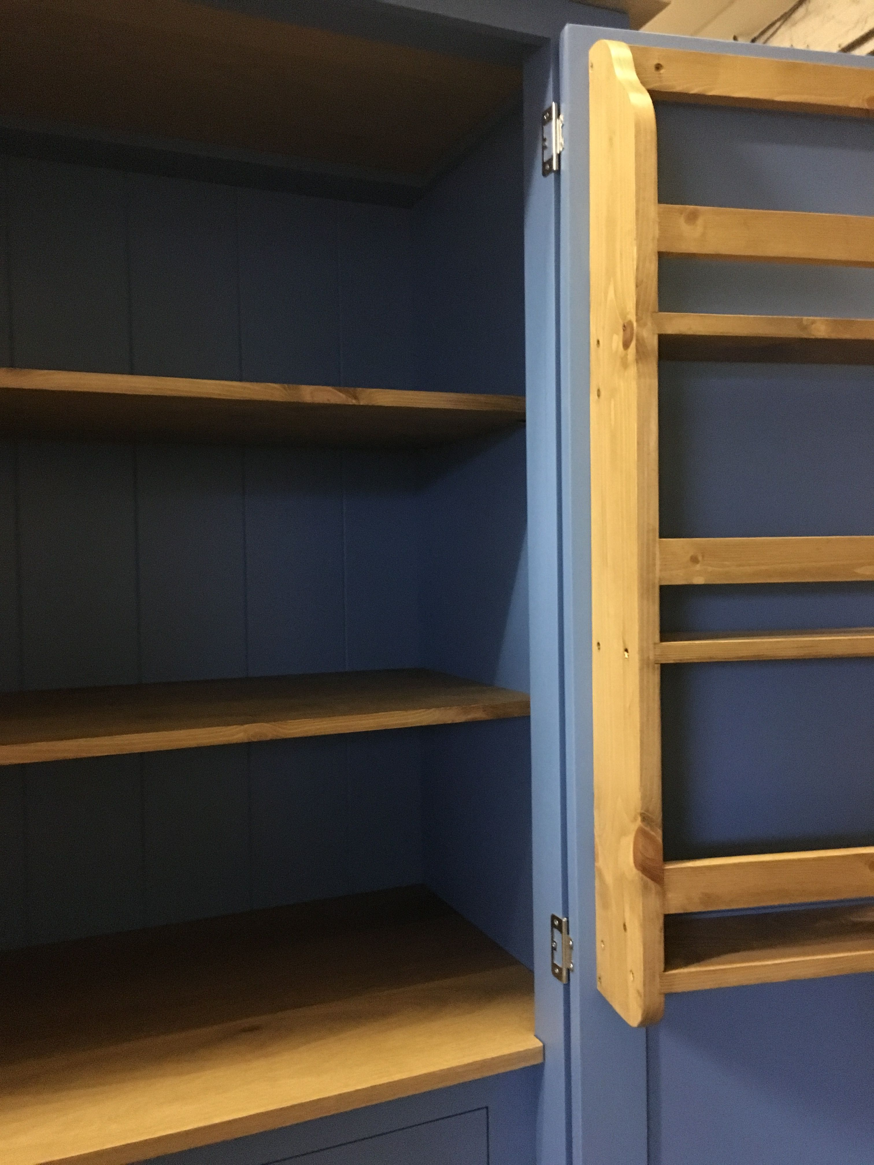 bespoke larder painted in f b cooks blue bespoke furniture at rh pinterest com