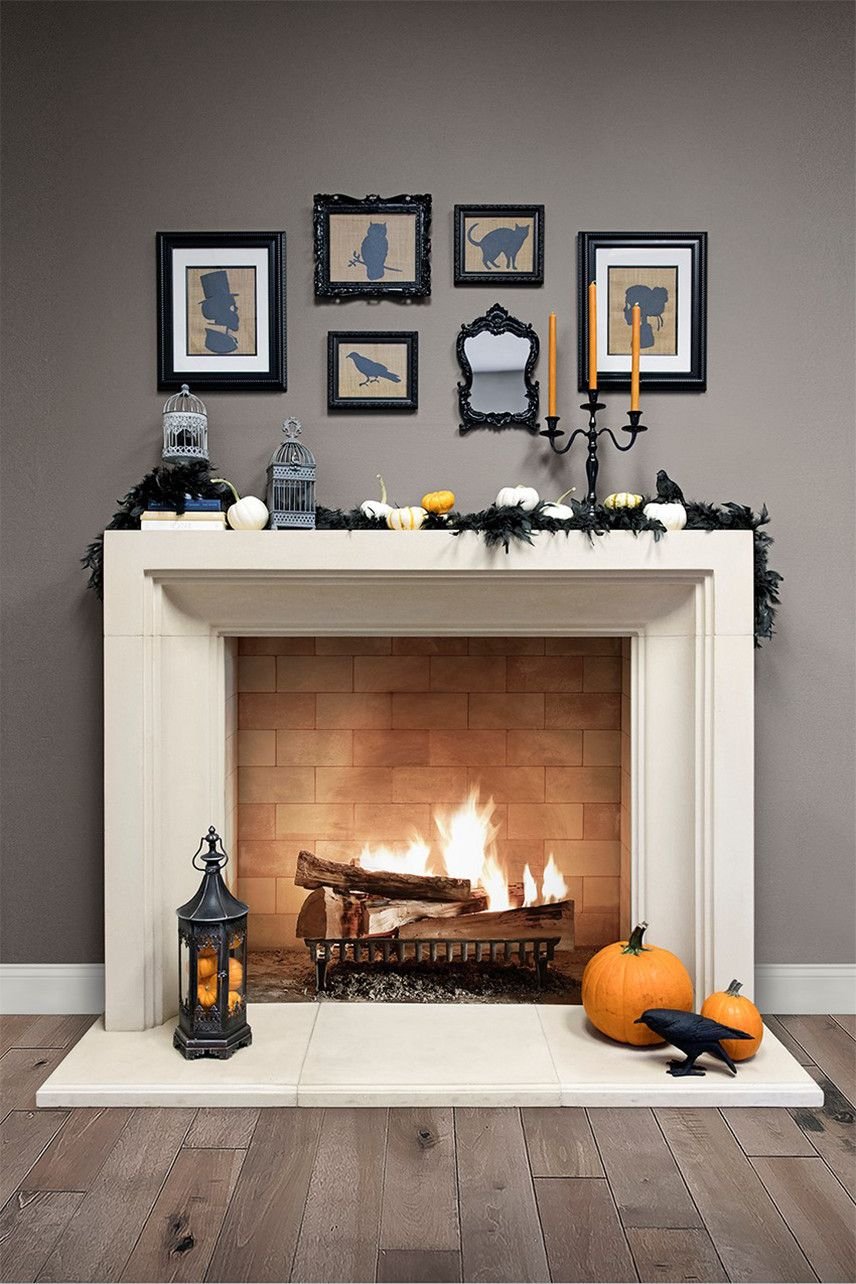 8 step guide to decorating mantels this halloween in 2018 rh pinterest com