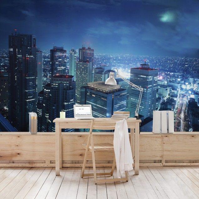 Vliestapete - Die Atmosphäre Tokios - Fototapete Breit