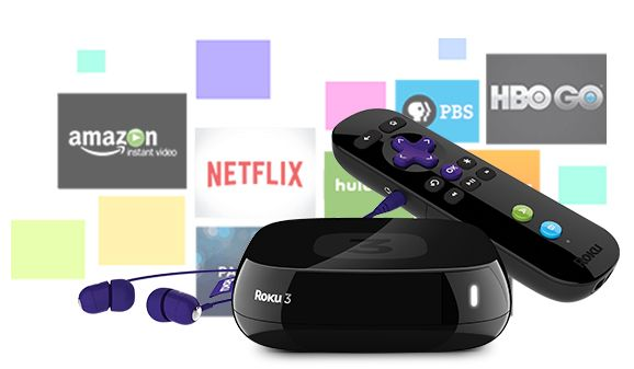 Roku 3 Streaming Player 4230R with the included remote and