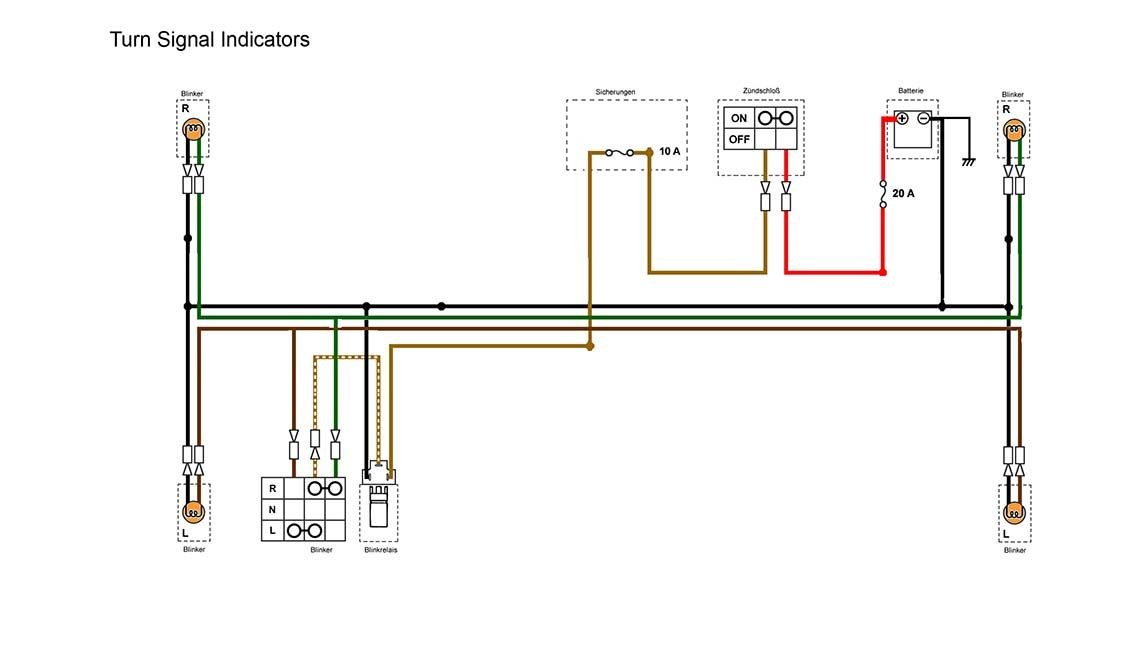 indicators section of the simplified wiring diagram for xs400 rh pinterest com