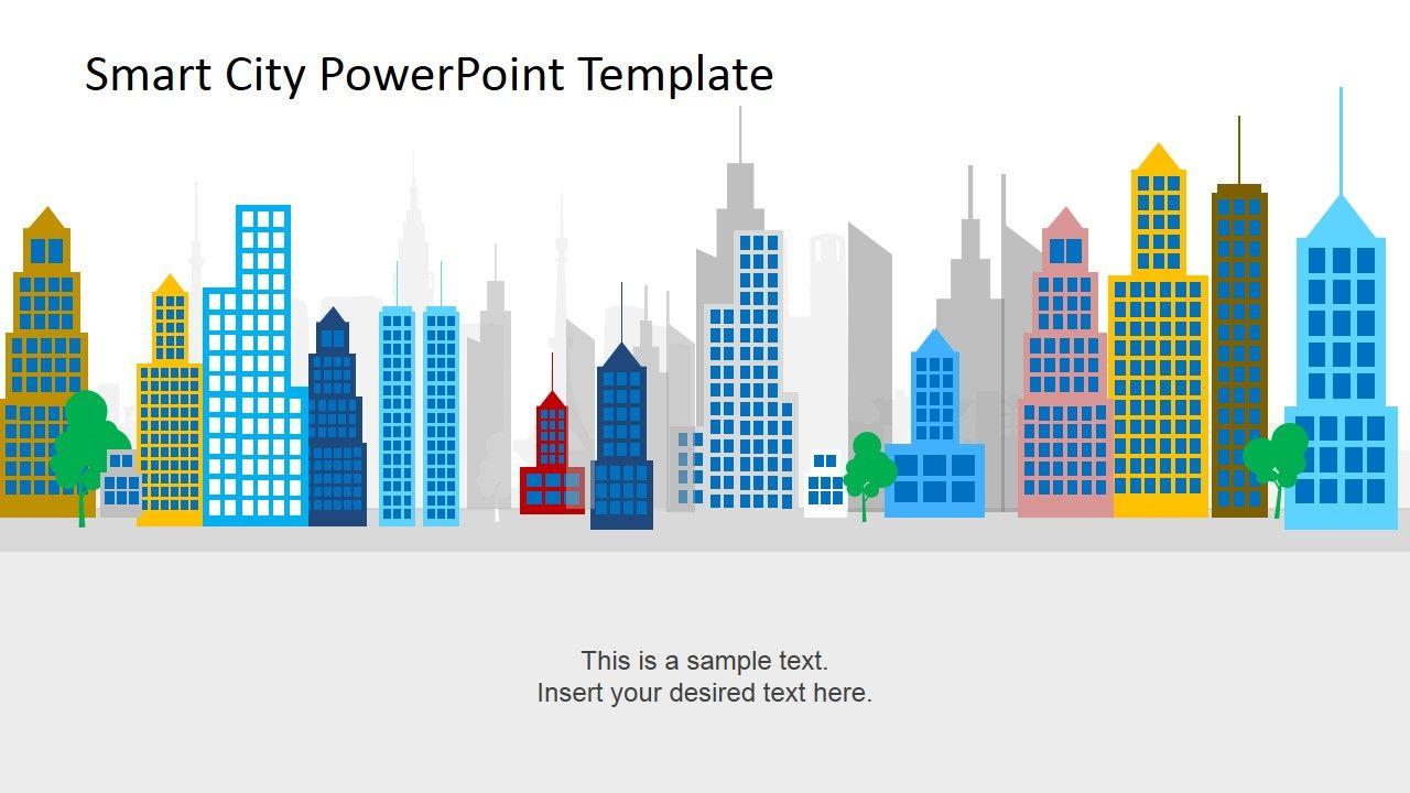 smart city powerpoint template slidemodel | city | pinterest, Modern powerpoint
