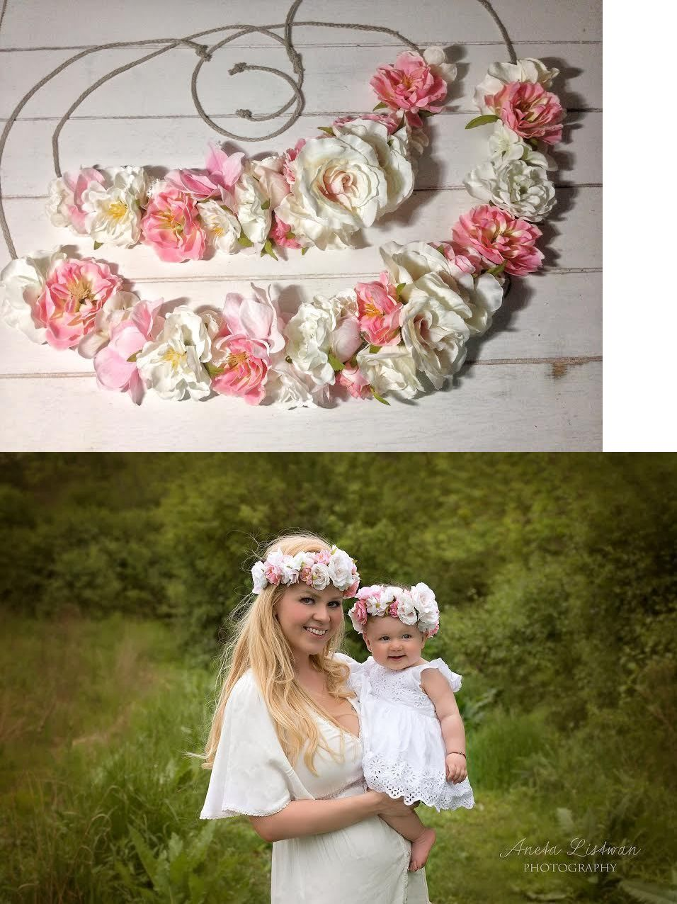 Hair Accessories 18786 Mommy And Me Flower Crown Baby Flower Crown