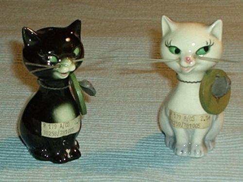 GOEBEL cruet salt and pepper - cats   eBay