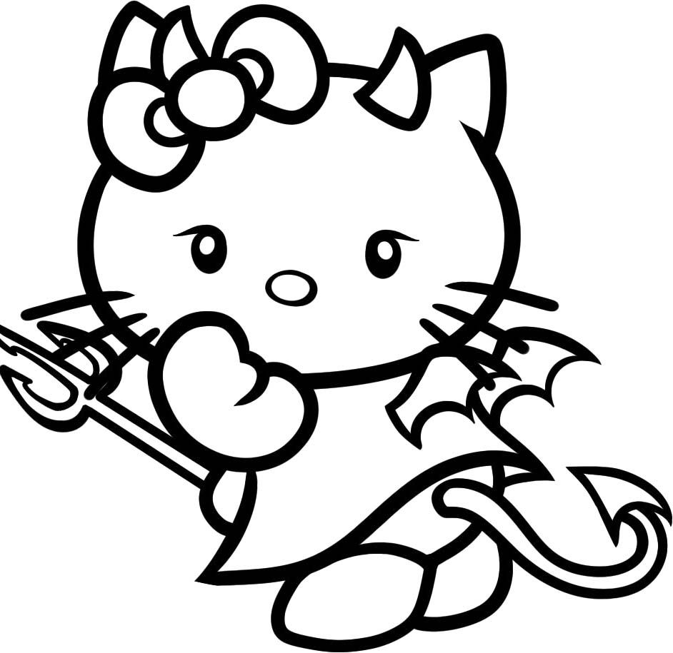 Free Coloring Pages Of Hello Kitty Cupcake