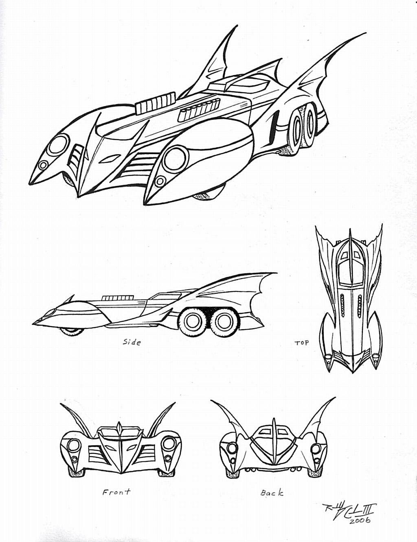 Batmobile Concept Art Colering