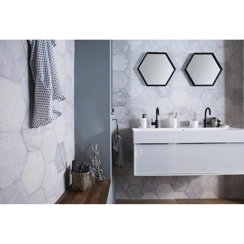 Plan Vasque Simple Resine De Synthese Pure L 120 X P 49 Cm Blanc Sensea En 2020 Plan Vasque Vasque Et Blanc