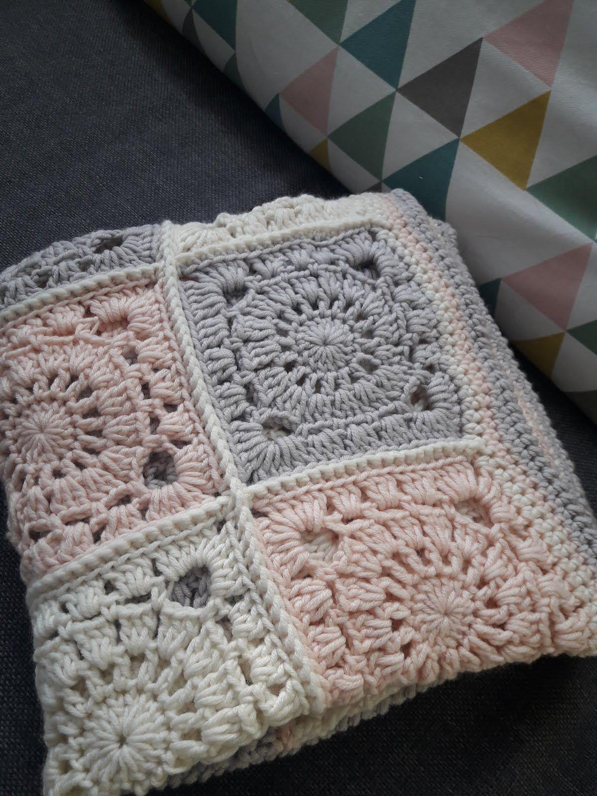 couverture granny square baby blanket avec tuto crochet enfant pinterest crochet mantas. Black Bedroom Furniture Sets. Home Design Ideas