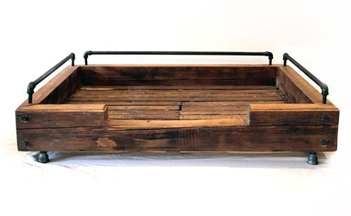 Rustic Wood Pipe Dog Bed It Was Just About Everything We Liked Reclaimed Plumbing Piped Pretty Freaking Awesome And Sadly Out Of Our Price Range