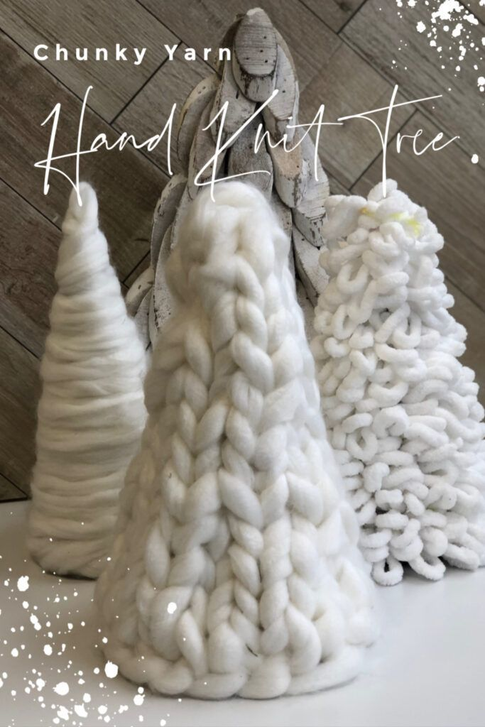 Hand Knit Chunky Yarn Tree-DIY · Just That Perfect Piece -   19 diy christmas decorations dollar tree 2020 ideas