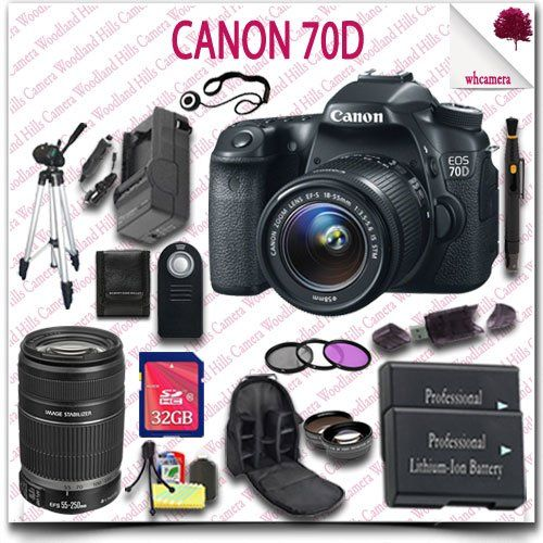 Canon EOS 70D Camera with EFS 1855mm STM Lens Canon EFS 55