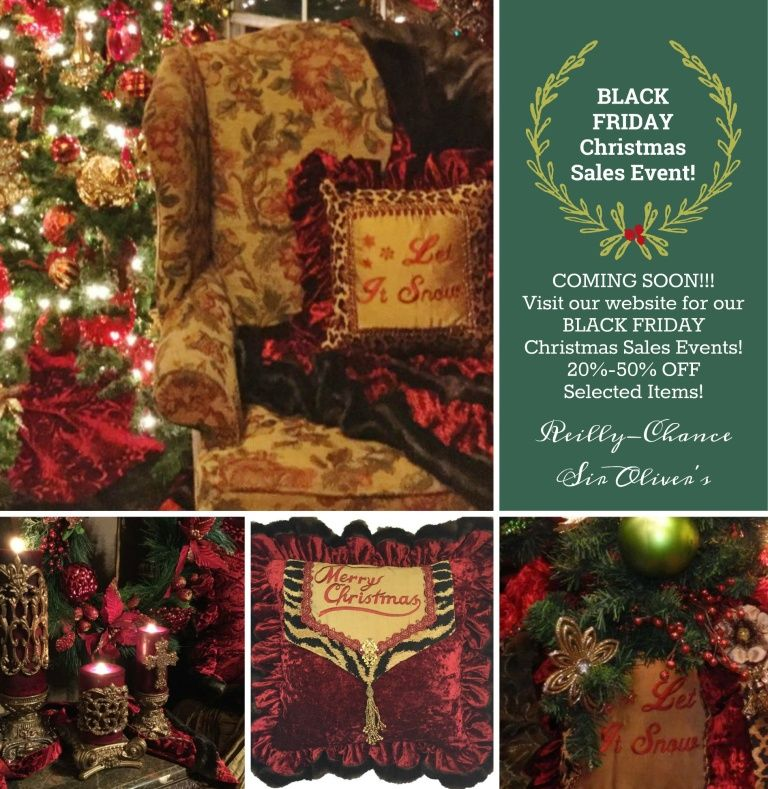 BLACK FRIDAY Sales Event at Reilly-Chance Collection Coming Soon - christmas home decor