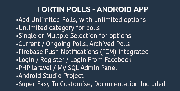 awesome fortin poll survey android app with admin panel