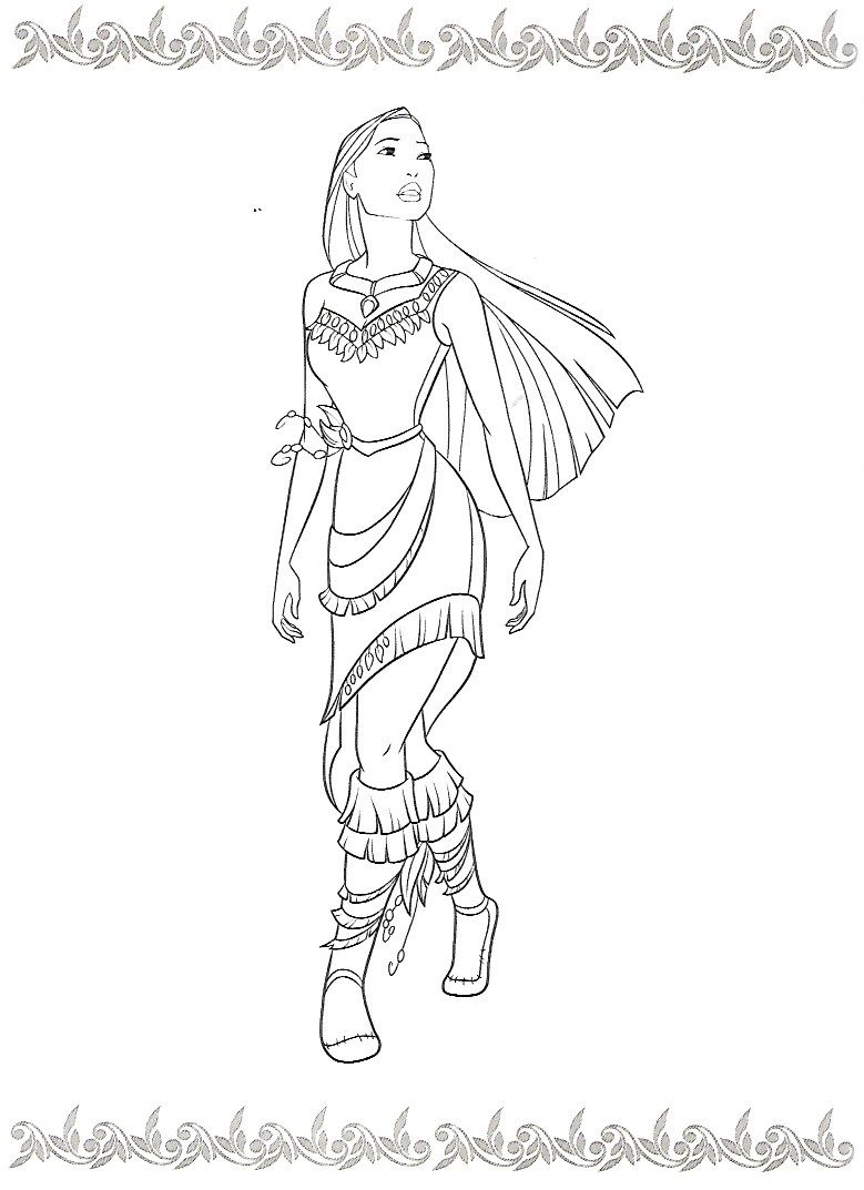 Pin By Morimana On Pocahontas Kolorowanki Unicorn Coloring Pages Tinkerbell Coloring Pages Princess Coloring Pages