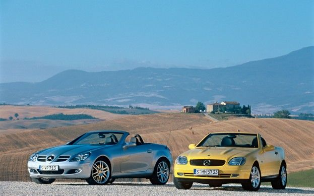 Mt Then And Now 1998 2001 2005 2009 2012 Mercedes Benz Slk