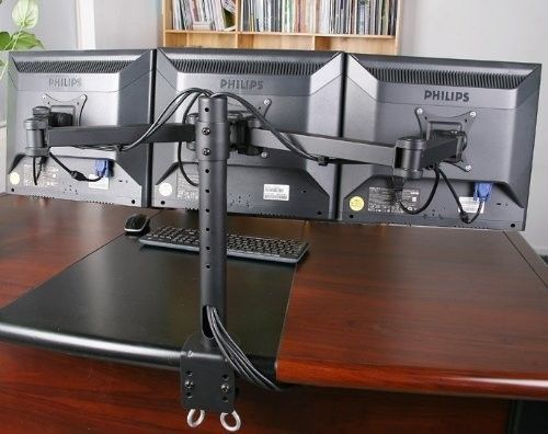Computer Monitor Mount Triple Three Screens Desktop Lcd Adjustable Stand Office Monitor Stand Diy Monitor Stand Monitor