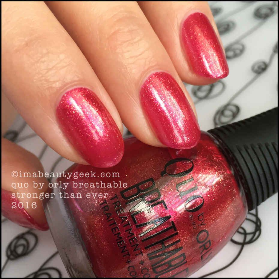 QUO BY ORLY BREATHABLE NAIL POLISH | Swatch