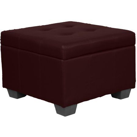 Peachy Timeless 24 Inch Square Tufted Padded Hinged Storage Ottoman Gmtry Best Dining Table And Chair Ideas Images Gmtryco