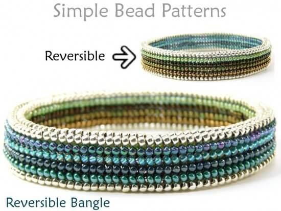 Photo of Beaded Bangle Bracelet Herringbone Stitch DIY Beading Pattern –  Learn how to ma…