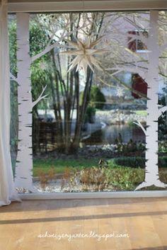 Ein Schweizer Garten: DIY- Last-Minute-Adventsfenster