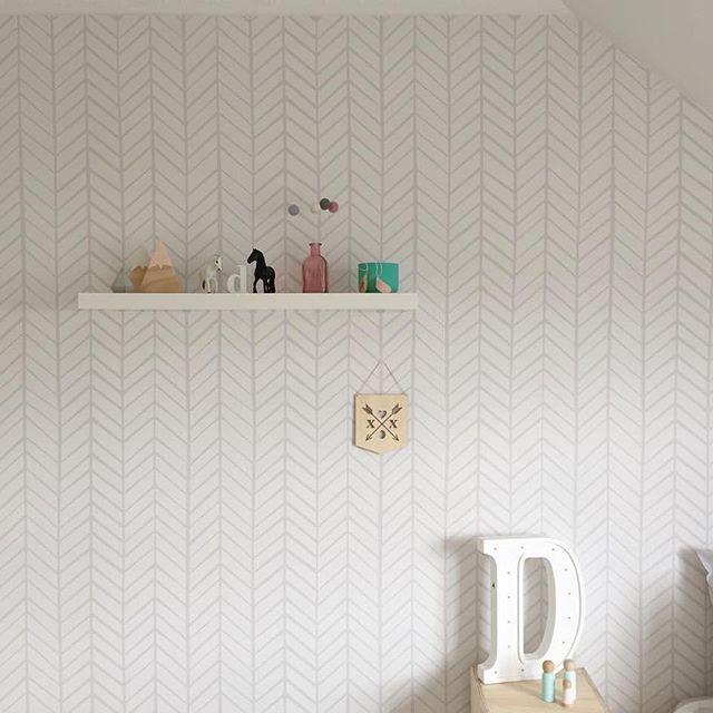 Pin On Light Grey Herringbone Wallpaper