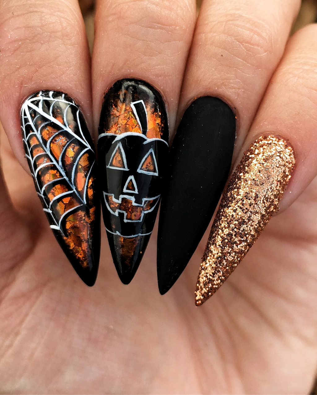 Pin by Minty on Halloween in 2020 | Halloween nail designs ...