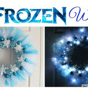 undefinedMake your own Frozen Wreath – Elsa would be so proud!