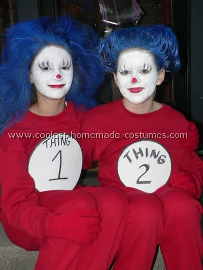 take a look at these homemade thing 1 and thing 2 from cat in the hat costumes submitted to our annual halloween costume contest youll also find the most - Thing 1 Thing 2 Halloween Costume