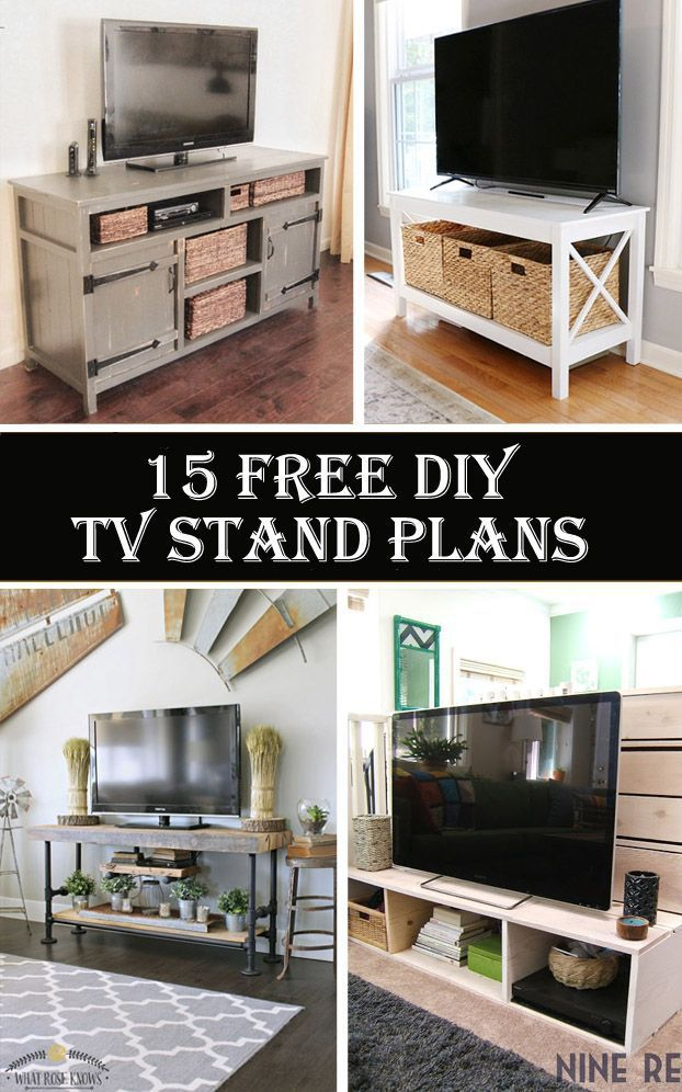 12 DIY TV Stand Ideas for Your Next House Task (With