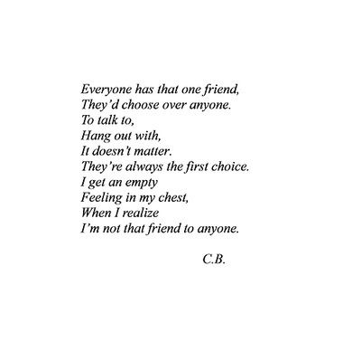 Is it someones own fault if they are friendless?